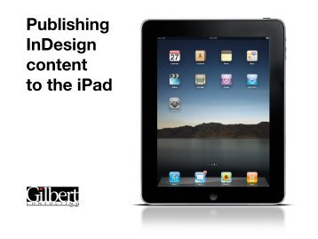 Publishing InDesign content to the iPad - InDesign User Group
