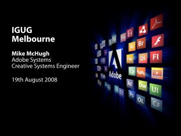 IGUG Melbourne Mike McHugh - InDesign User Group