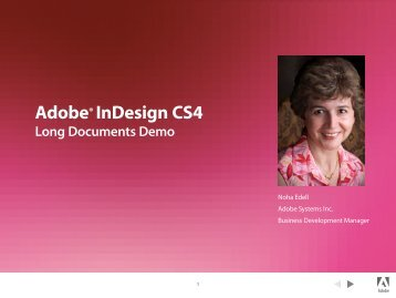 Adobe® InDesign CS4 - InDesign User Group