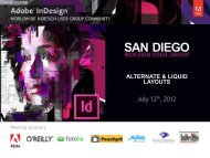 SAN DIEGO - InDesign User Group
