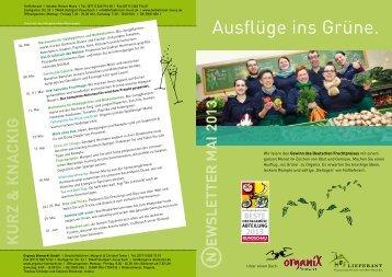 Ausflüge ins Grüne. - Organix Biomarkt GmbH