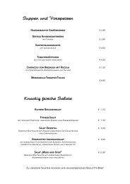 Suppen und Vorspeisen Knackig frische Salate - Landhaus Haake