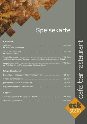 Speisekarte - Café Europa Dresden
