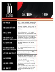 The Top 10 List - InDesign User Group