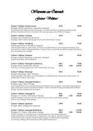 Weinkarte Winter 2013-14 - Hotel Zur Tenne