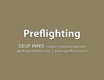 Preflight - InDesign User Group
