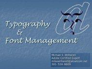 Typography & Font Management - InDesign User Group