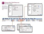 Option/Alt-Click Shortcuts - InDesign User Group