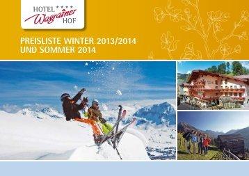Download Preisliste - Hotel Wagrainerhof
