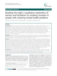a qualitative exploration of barriers and facilitators ... - BioMed Central
