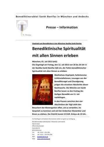 Abtei Sankt Bonifaz München - Presseinformation Orgelvigil zum ...
