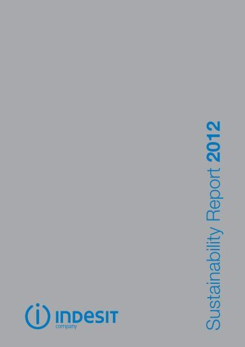 Sustainability Report 2012 - Indesit