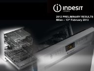 2012 Preliminary results February 13, 2013 - Indesit