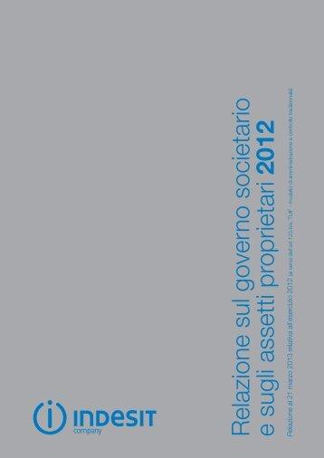 Relazione annuale al 21 marzo 2013 sul governo societario ... - Indesit