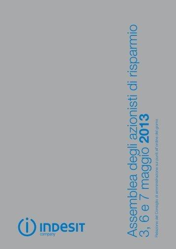 26/03/2013 Assemblea Azionisti di Risparmio 3-6-7 maggio ... - Indesit
