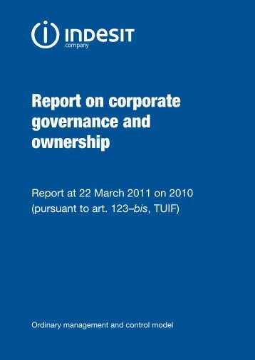 Annual report on corporate governance and the ownership ... - Indesit