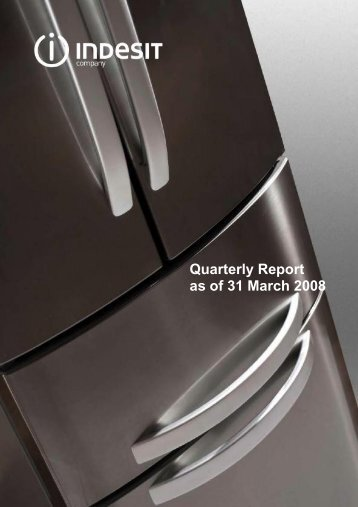 Quarterly Report as of 31 March 2008 - Indesit