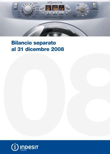 Bilancio Separato 2008 - Indesit