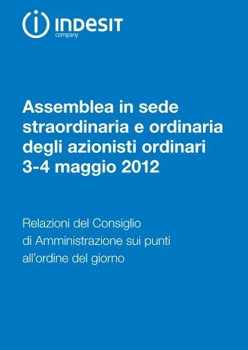 30/03/2012 Relazione del Consiglio di amministrazione sui ... - Indesit