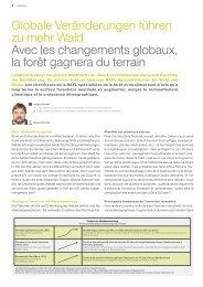 Globale Veränderungen führen zu mehr Wald Avec les ... - HAFL