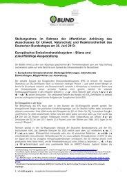 BUND-Stellungnahme zum Emissionshandel für die ...