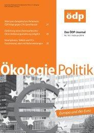 ÖDP-Magazin kostenlos als PDF online lesen (5,0 MB)