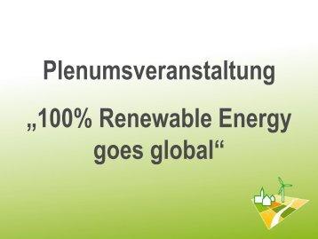 """Folie 1 - 5. Kongress """"100% Erneuerbare-Energie-Regionen"""""""