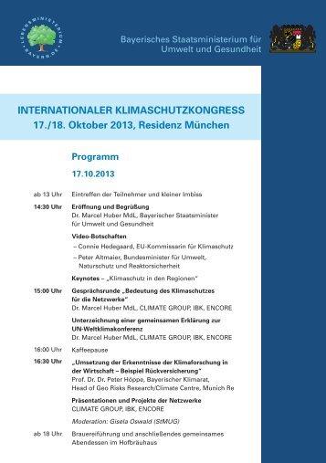 INTERNATIONALER KLIMASCHUTZKONGRESS 17./18. Oktober ...
