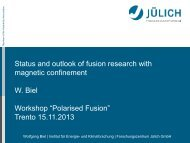 Status and outlook of fusion research with magnetic confinement - ECT