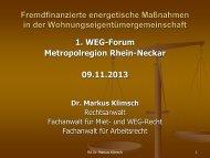 Vortrag als PDF zum Download - Energieagentur Regio Freiburg