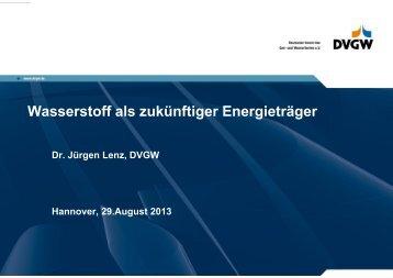 Wasserstoff als zukünftiger Energieträger - DGMK