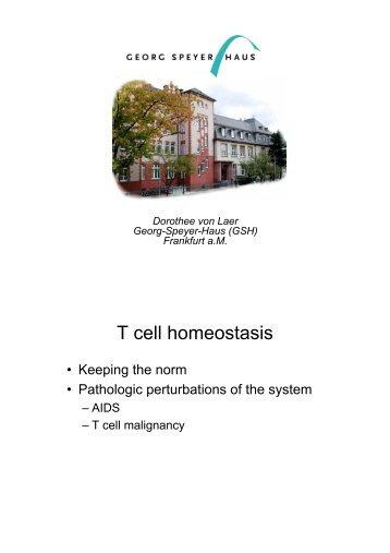 T cell homeostasis - FIAS