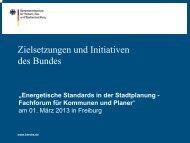Zielsetzungen und Initiativen des Bundes - Stadt Freiburg im Breisgau