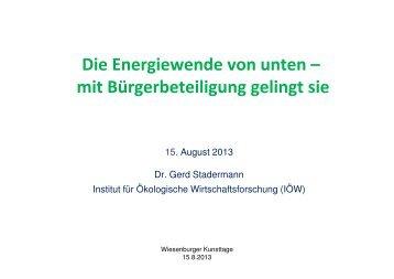 Energiewende ist nicht in Gefahr-bereinigt - Institut für ökologische ...
