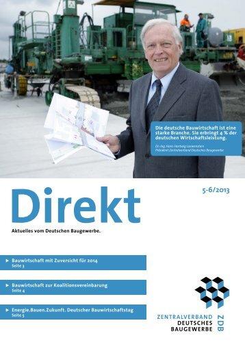 Aktuelles vom Deutschen Baugewerbe. Bauwirtschaft zur ...