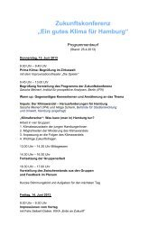"""Zukunftskonferenz """"Ein gutes Klima für Hamburg"""" - IBA Hamburg"""