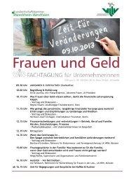 WiN-Fachtagung Frauen und Geld - Westfälisch-Lippischer ...