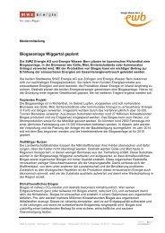 Biogasanlage Wiggertal geplant (PDF, 37 KB) - Energie Wasser Bern