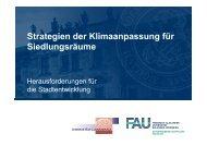Strategien der Klimaanpassung für Siedlungsräume - GeoTeam