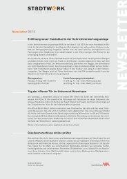 Newsletter 3/2013(PDF, 777 KB) - Stadtwerk Winterthur