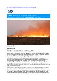 Global Ideas Friedliche Koexistenz von Feuer und Natur
