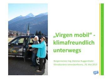 """""""Virgen mobil"""" - klimafreundlich unterwegs"""