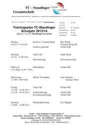 TC - Staudinger Gesamtschule - homepage-baukasten-dateien.de