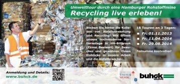 Flyer über die Umwelttouren - Buhck Umweltservices GmbH & Co. KG