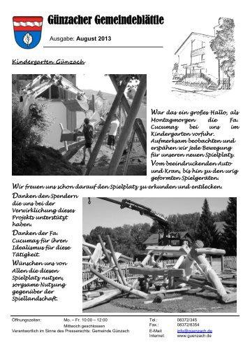 Ausgabe August 2013 - Günzach