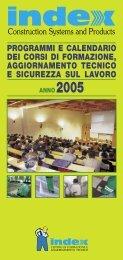 programmi e calendario dei corsi di formazione ... - Index S.p.A.
