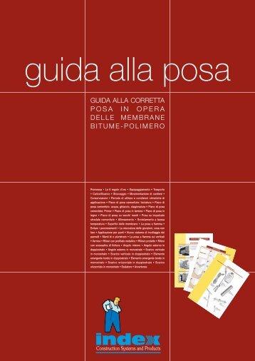 GUIDA ALLA CORRETTA POSA IN OPERA DELLE ... - Index S.p.A.