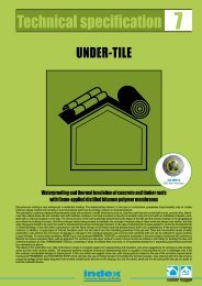 Technical specification 7: UNDER TILES - Index S.p.A.