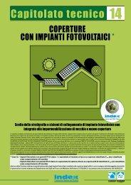 COPERTURE CON IMPIANTI FOTOVOLTAICI * - Index S.p.A.