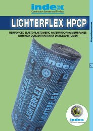 reinforced elastoplastomeric waterproofing ... - Index S.p.A.